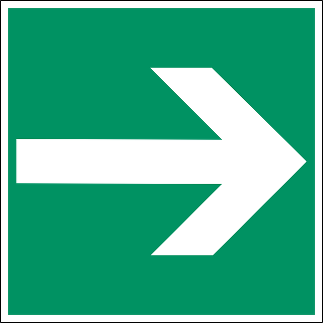 arrow right green way direction sign symbol icon